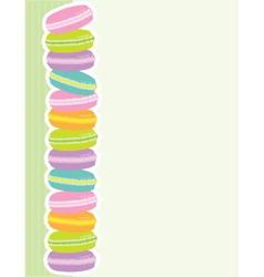 macaron border vector image vector image