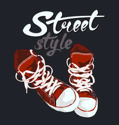 sneakers graphic design vector image