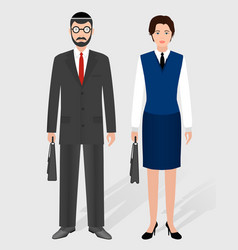 business people concept couple of jewish vector image vector image