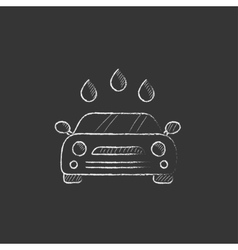 Car wash Drawn in chalk icon vector image vector image