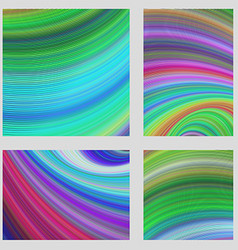 Colorful curved digital page background set vector image vector image