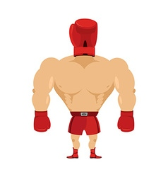 Crazy Boxer Boxing Glove on his head Glove man vector image vector image