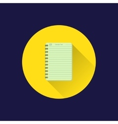Flat notebook icon vector image