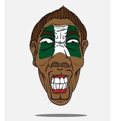 football fan from Nigeria vector image