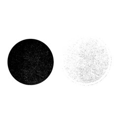 grunge monochrome circle background abstract vector image vector image