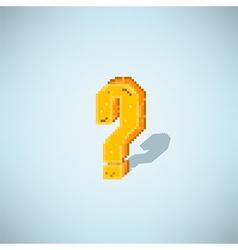 retro question mark symbol style 8 bit vector image