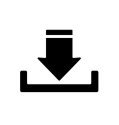 upload button icon vector image