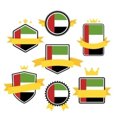 World Flags Series Flag of United Arab Emirates vector image