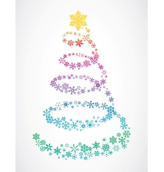 christmas tree snowflakes vector image vector image