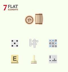 flat icon entertainment set of backgammon mahjong vector image vector image
