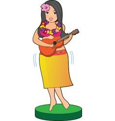 Hula Girl vector image vector image