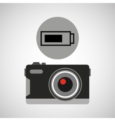 retro camera photographic battery vector image