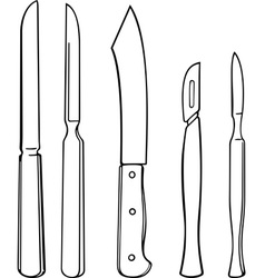 Surgical instruments vector image vector image