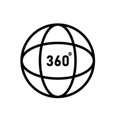 360 degrees angel sign simple icon ful vector