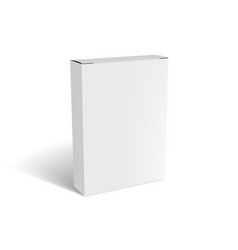 3d white box mock up packiging with shadow vector image