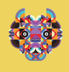Abstract colorful ethnic ornament mask vector