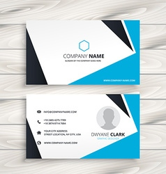 abstract modern business card vector image
