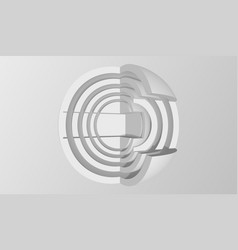 Abstract sphere background minimalistic hi-fi vector