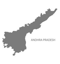 Andhra pradesh india map grey vector