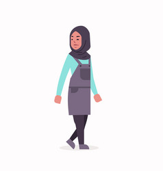 arabic woman in hijab arab girl wearing headscarf vector image