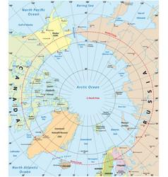 Arctic map vector