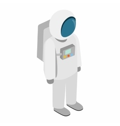 Astronaut 3d isometric icon vector