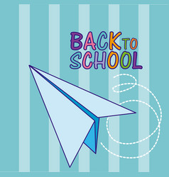 back to school and supplies vector image