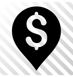 Bank Map Marker Icon vector