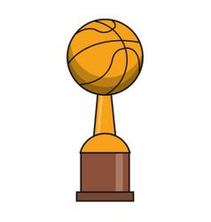 basketball trophy sport golden image vector image