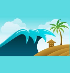 beach wave image and background vector image
