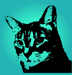 Black abstract cat vector