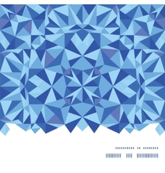 Blue triangle texture horizontal frame seamless vector
