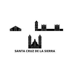 Bolivia santa cruz de la sierra flat travel vector