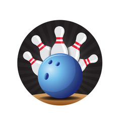 Bowling badge vector