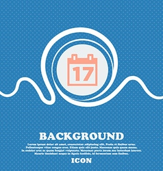 Calendar Date or event reminder sign icon Blue and vector image