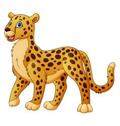 Cartoon funny cheetah vector