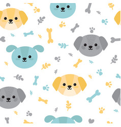 childish seamless pattern with cute little vector image