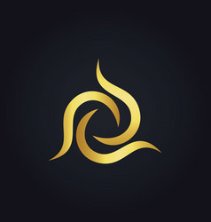 Circle abstract gold logo vector