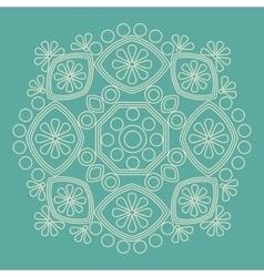 Circular ornament Round pattern mandala vector image