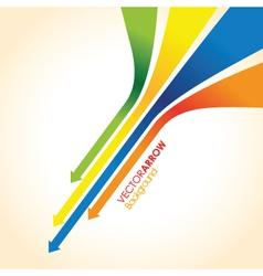 Coloured arrow background vector
