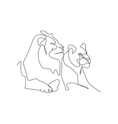 continuous one line drawing male and female vector image