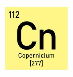 copernicium chemical symbol vector image