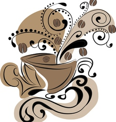 Cup of coffee - abstraction vector