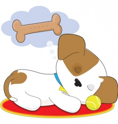 cute puppy dreaming vector image