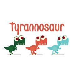 cute t-rex walking dinosaur life vector image