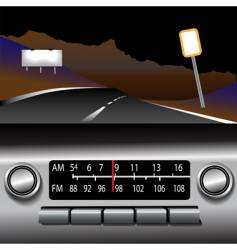 Dashboard radio vector