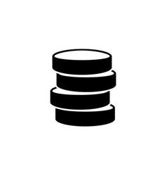 database data storage flat icon vector image