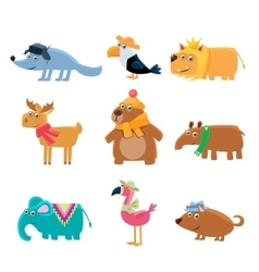 Dressed Animals Set vector