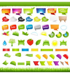 Eco And Nature Symbols vector image