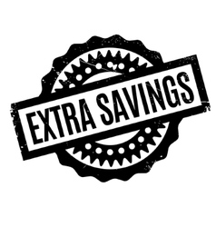 Extra savings rubber stamp vector